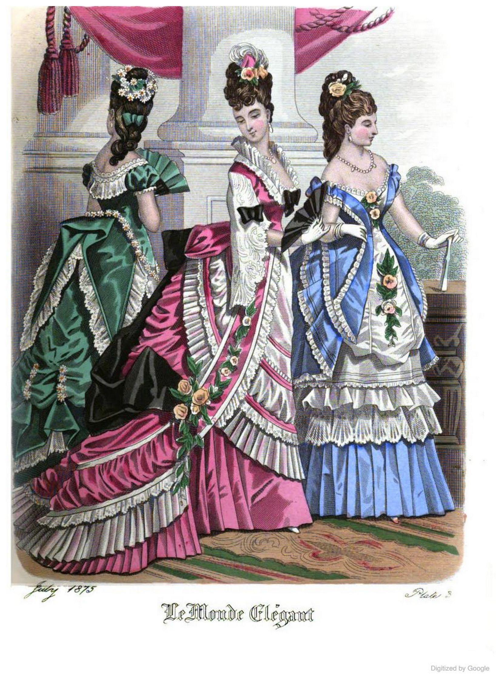 Le Monde Elégant 1875 July