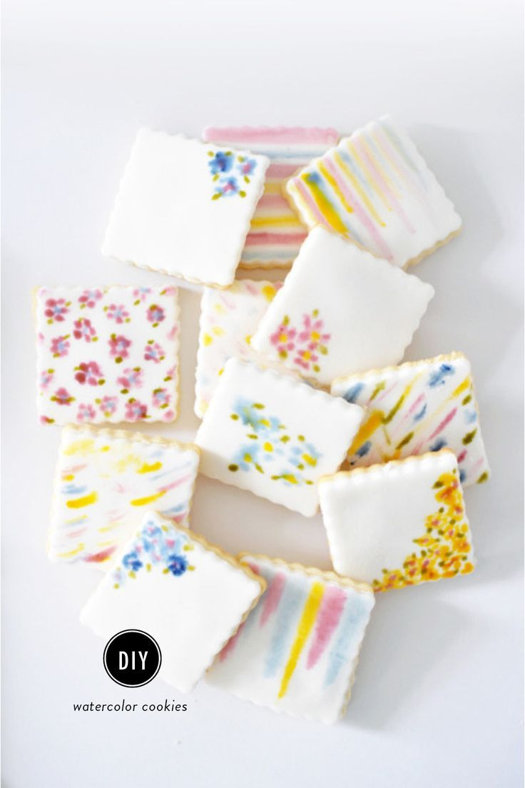 raspberry desserts recipes, apple desserts recipes, african desserts recipes - If you're loving the watercolor trend that's popping up everywhere this spring, don't miss out on these gorgeous cookies from Lark
