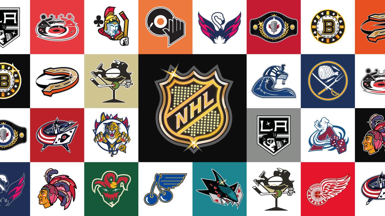 Nhl Logos Redesigned With Vegas Flair Nhl Logos Nhl Logo Redesign