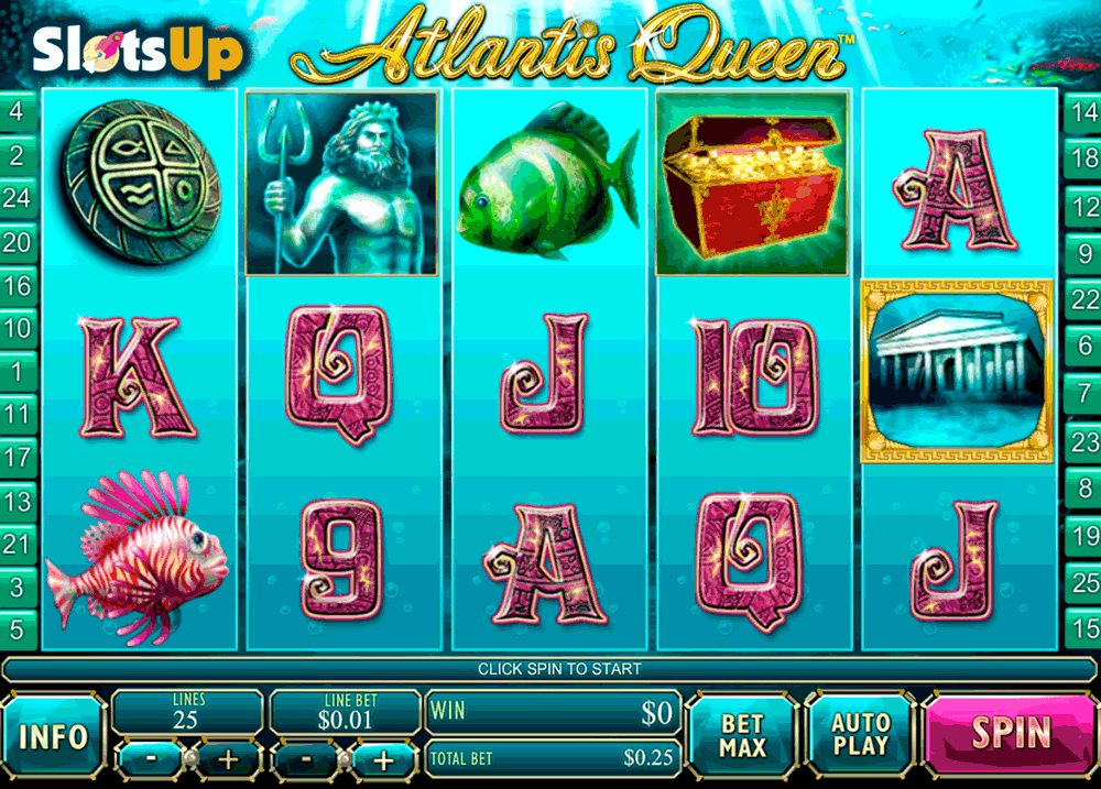 Atlantis Queen Slot by Playtech Play FREE at SlotsUp