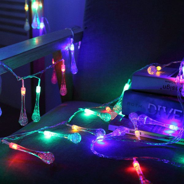 Water Droplets Modeling Battery LED String Lights ($15) ❤ liked on