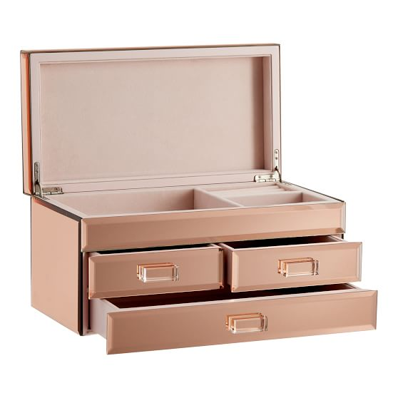 Mirrored Jewelry Box Jewelry Mirror Jewelry Box