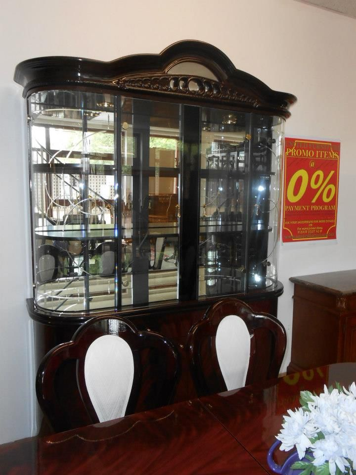 Italian Lacquer Buffet Hutch Arienne Dining Room Set