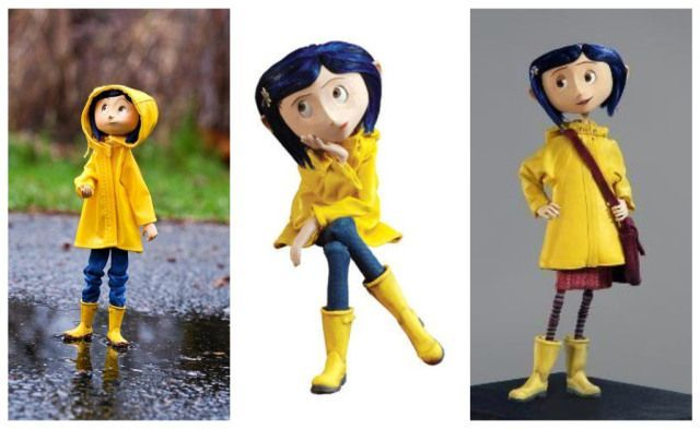 Coraline with her little yellow jacket
