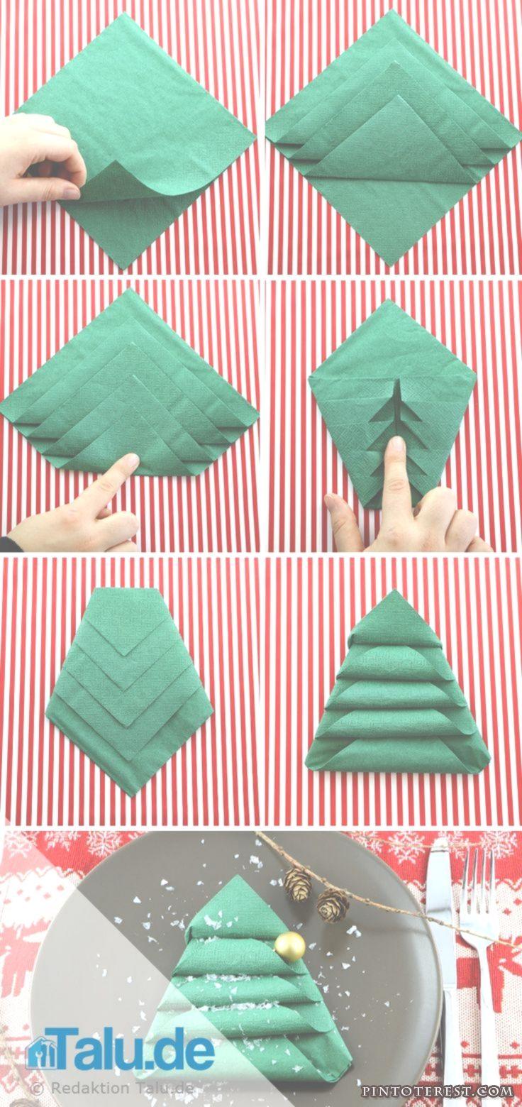 Anleitung: Servietten falten für Weihnachten  Sterne Engel & Co #vintageweihnachtendeko