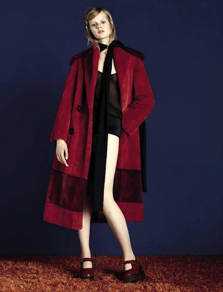 A Fendi FW15 coat featured in Vogue Italia.
