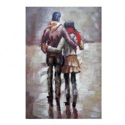 Cuadro decoraci n pareja lienzo pintura al leo cuadros - Cuadros de parejas ...