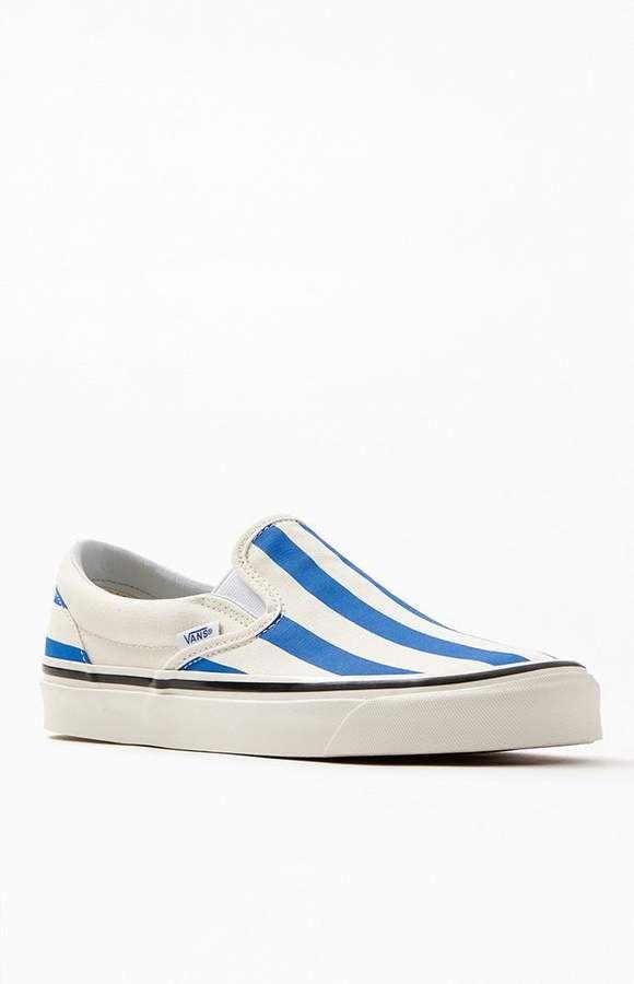 Vans White \u0026 Blue Striped Anaheim