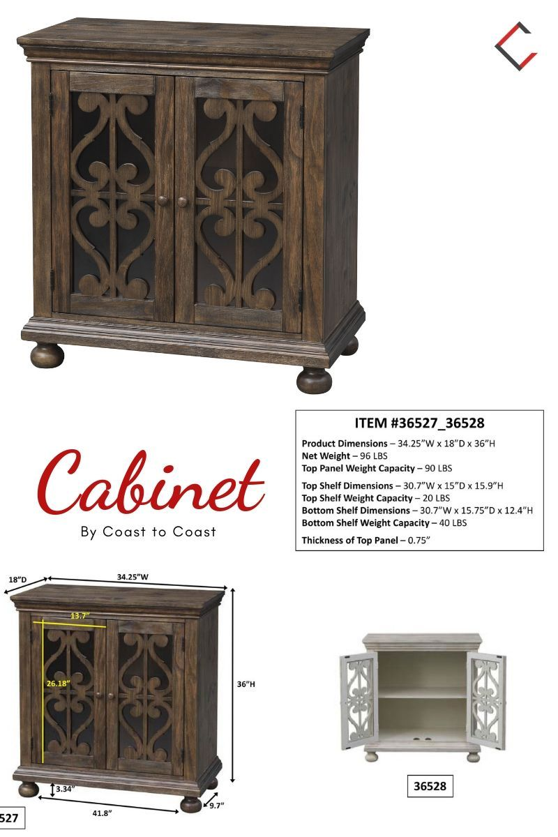 Coast To Coast Orchard Park Brown Two Door Cabinet Furniture Mall Home Furniture Cabinet Coast to coast cabinets