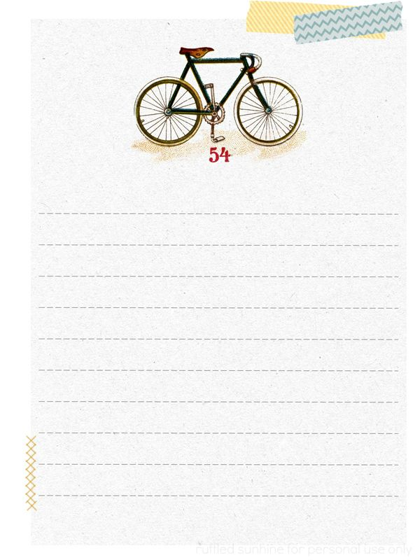 Free Printable Note Paper from Ruffled Sunshine Planners  Bullet