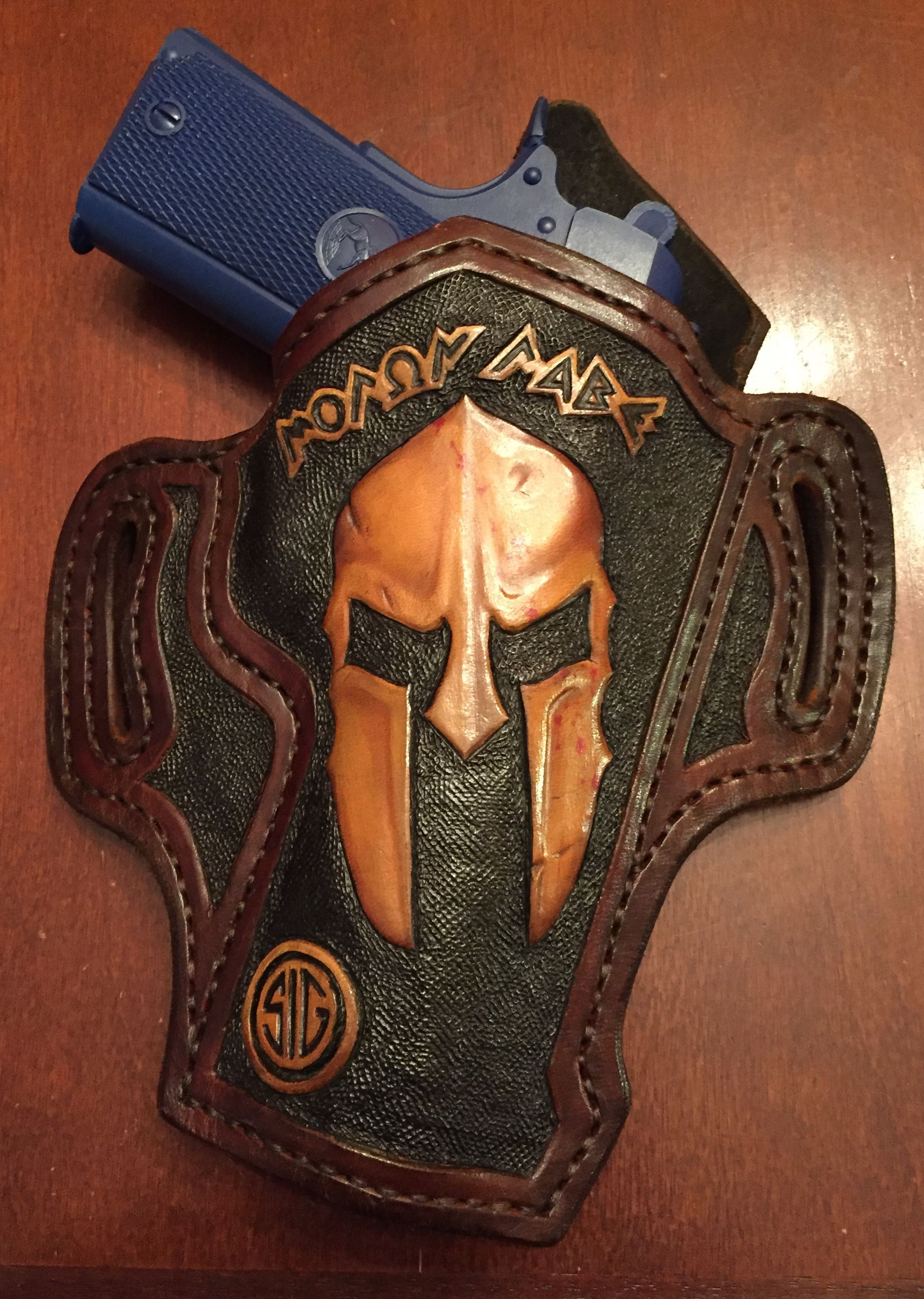 online retailer 589dc 4603d Sig Sauer Spartan 1911 Leather Holster. TS Custom Leather.