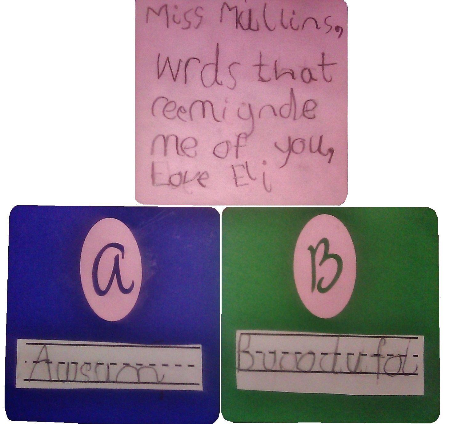 homemade teacher appreciation card for kindergartener