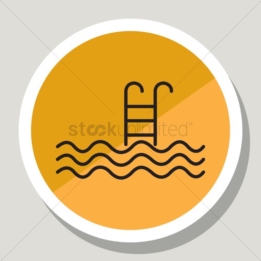 Swimming Pool Icon Vector Image 1332536 Stockunlimited Merchandise Design Icon Design