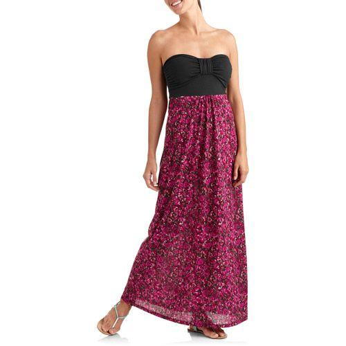 aa33bcee483 No Boundaries Juniors Strapless Maxi Dress  Juniors   Walmart.com ...