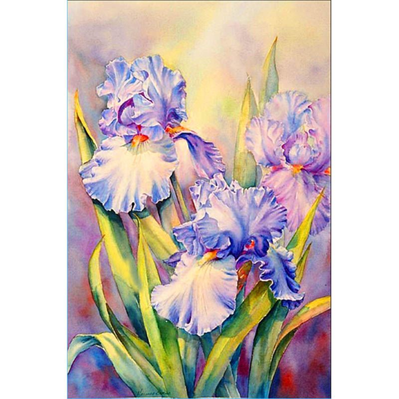 Plant Butterfly iris Flower,diamond painting 3d pictures kits,cross stitch diamond embroidery, diamond mosaic A997R   Painting, Cross paintings, Flower painting