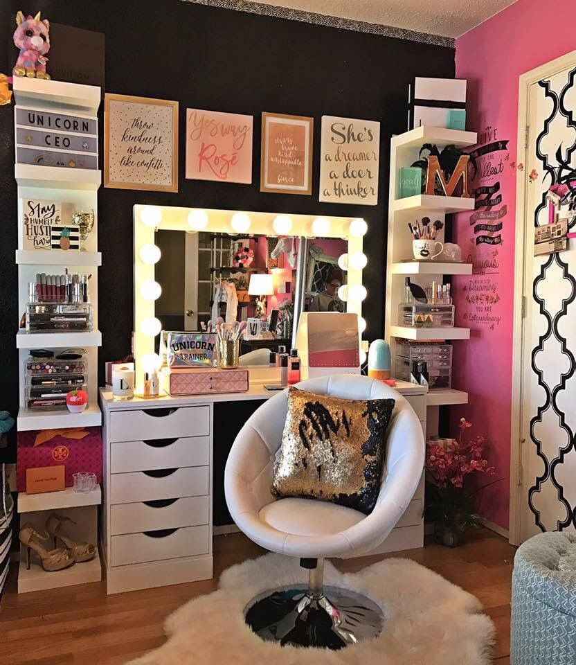 I finally have the vanity of my dreams makeup rooms pinterest