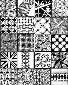 Zentangle Pattern Sheets Printable