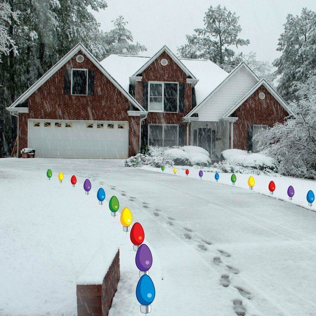 Giant christmas light bulb pathway markers lawn decorations giant christmas light bulb pathway markers lawn decorations christmaslightdecorations mozeypictures Images