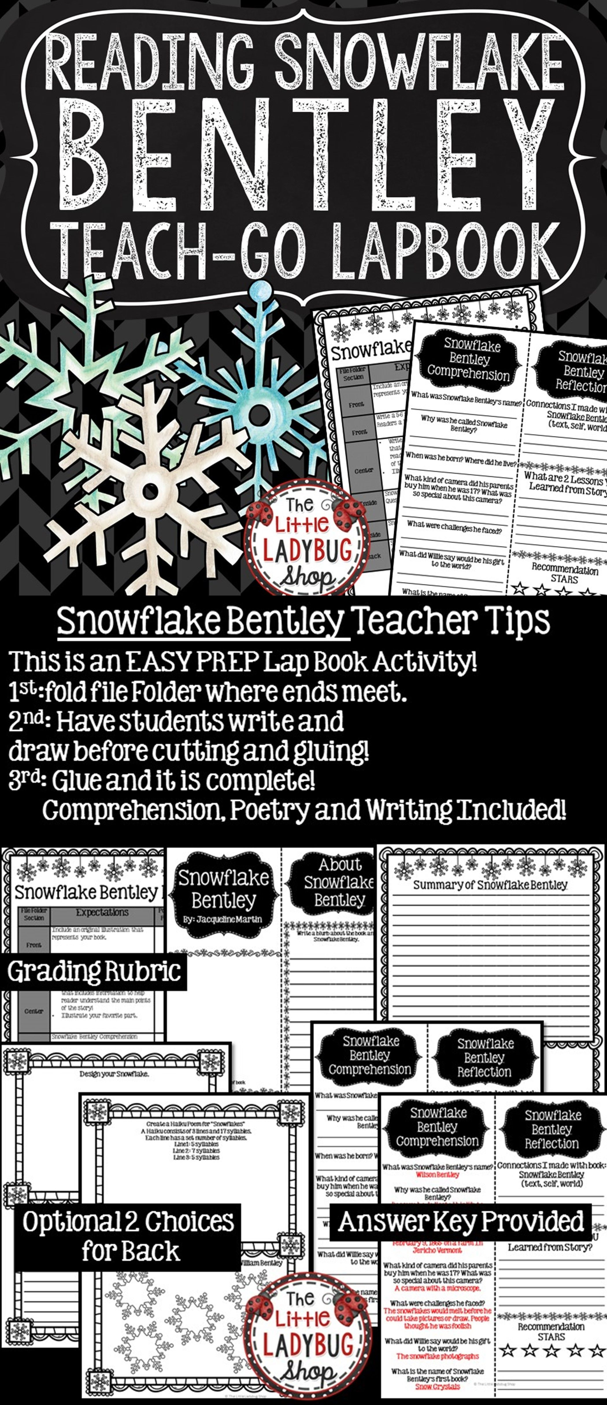 study freebie bentley book snowflake free the curriculum from corner