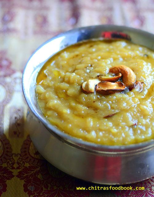 Iyengar Sakkarai Pongal Iyengar Style Sweet Pongal Recipe In Pressure Cooker Recipe Sakkarai Pongal Recipe Sweet Pongal Recipes