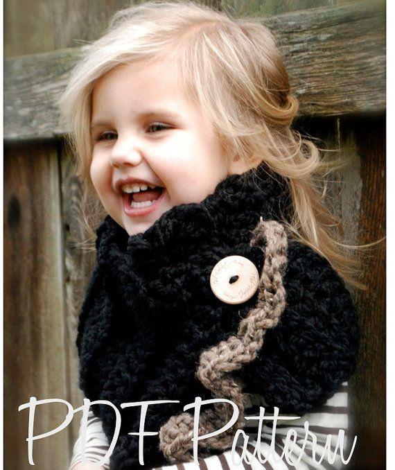 Gehäkelte PATTERN-The Layla Cowl (Kind, Erwachsengrößen) | Crochet