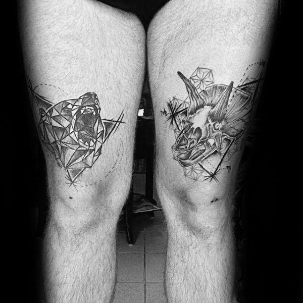 60 Geometric Bear Tattoo Designs For Men Manly Ink Ideas Tattoo