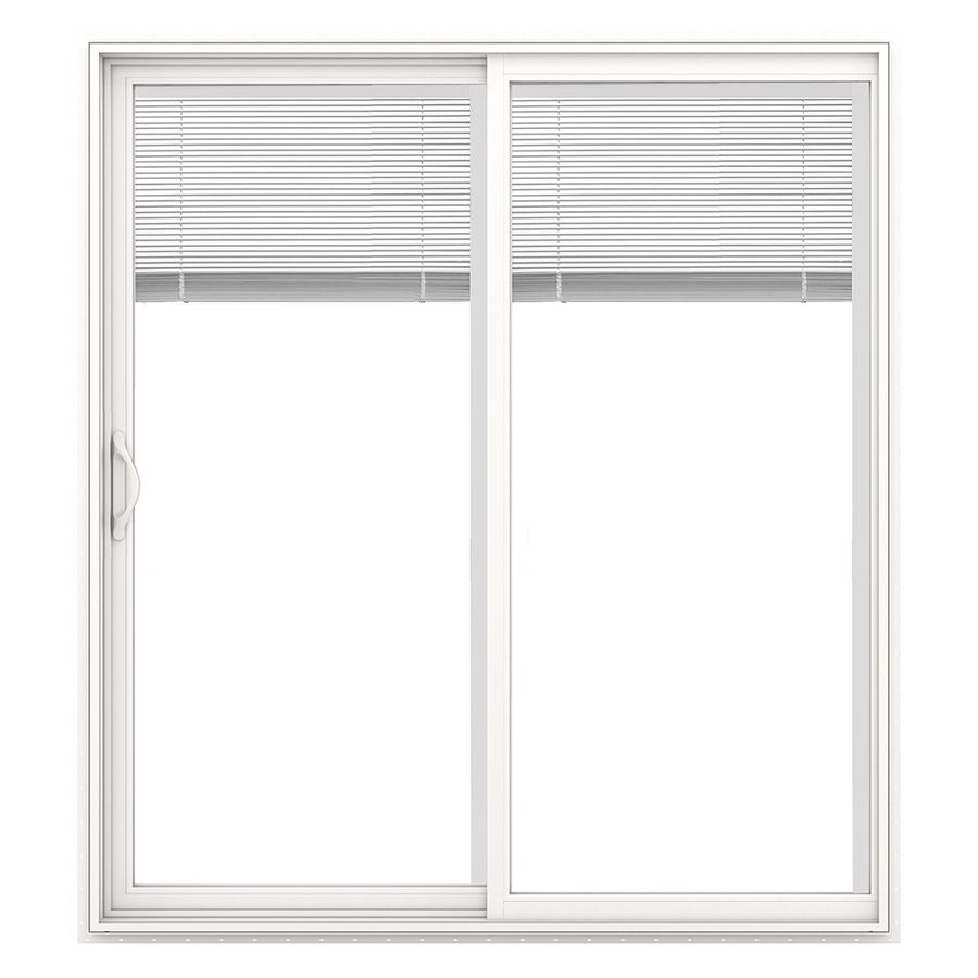 Jeld Wen V 2500 715 In Blinds Between The Glass White Vinyl Sliding