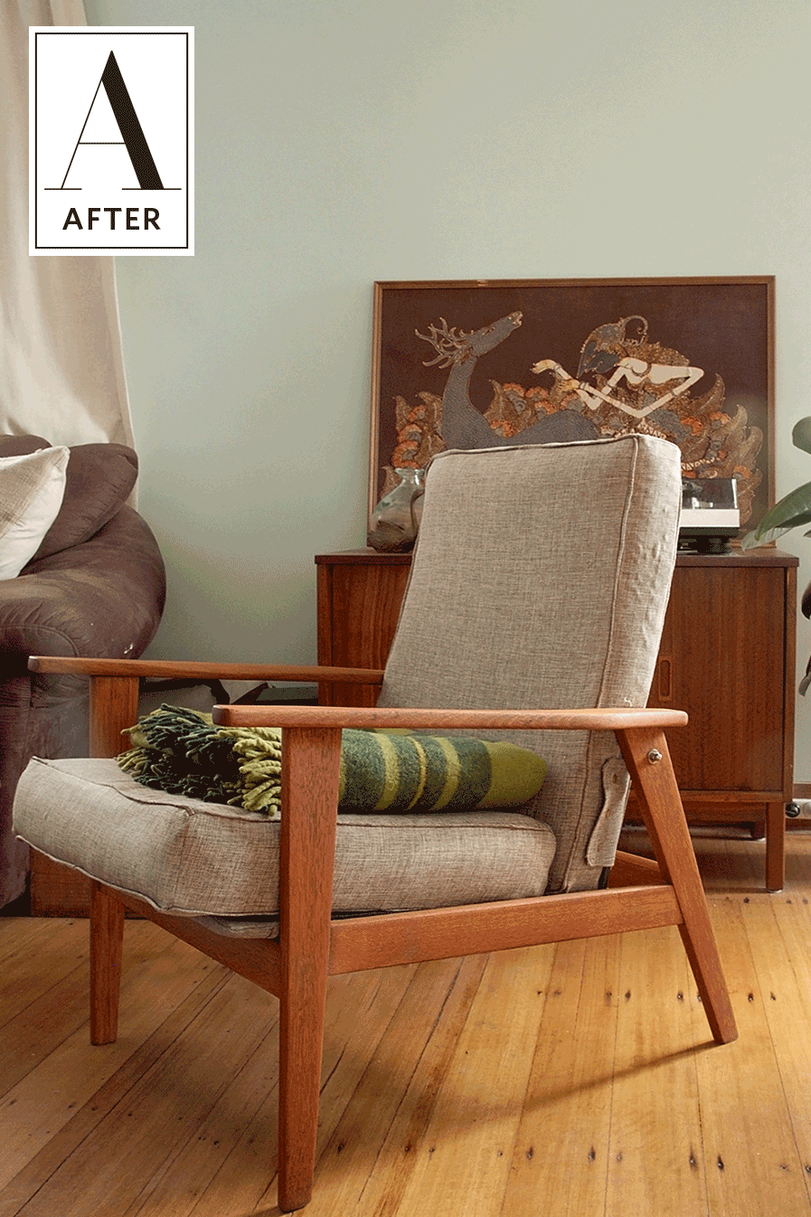 Before & After: Two Mid-Century Chairs Get Rescued from the