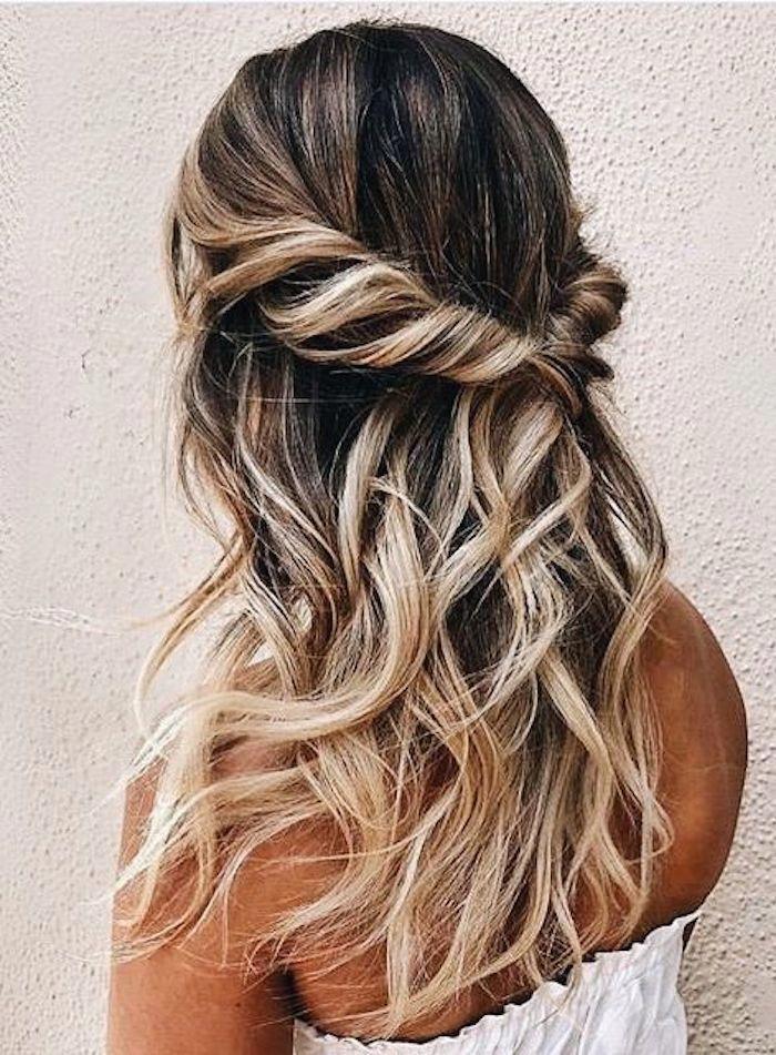 37 beautiful half up half down hairstyles_twisted hair 10 ...