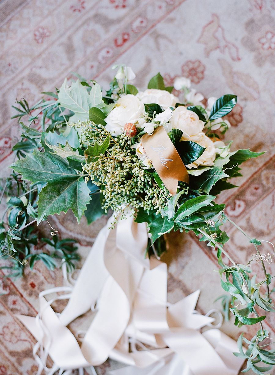 Rustic wedding bouquet: photographer  : Joel Serrato Films + Photographs Read More on SMP: http://www.stylemepretty.com/2017/01/30/a-wedding-in-the-woods-with-nods-to-the-brides-equestrian-roots/