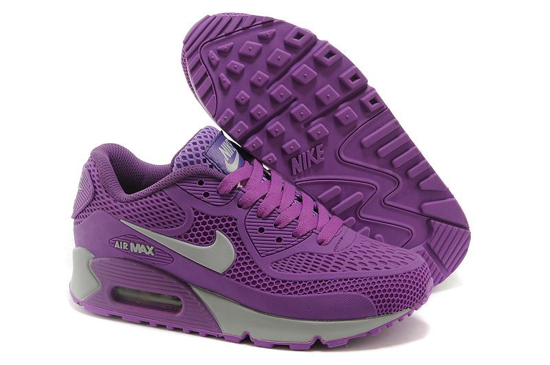 promo code 57259 2438b Nike Air Max 90 purple silver shoes Womens