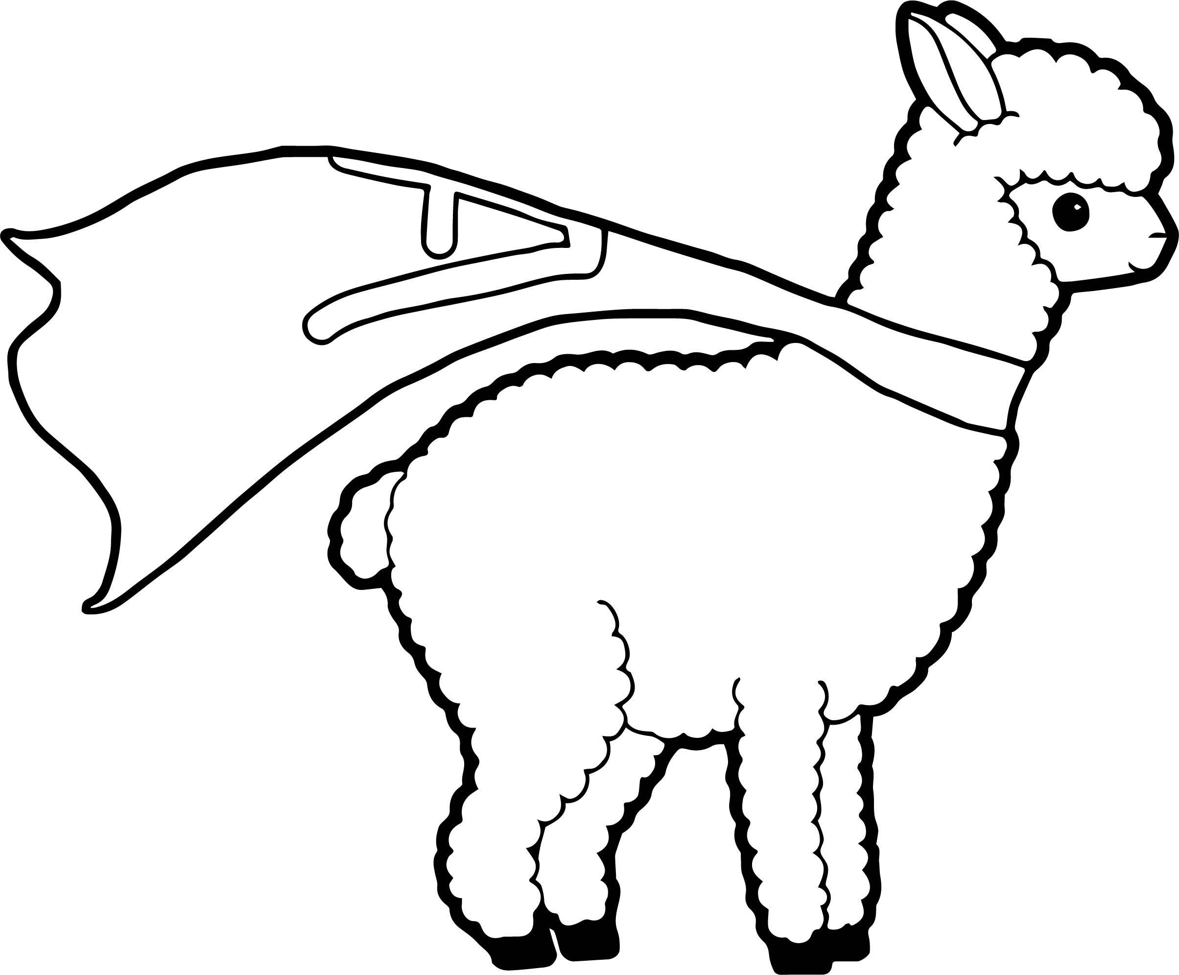 Superman Alpaca Coloring Page Wecoloringpage Animal Coloring