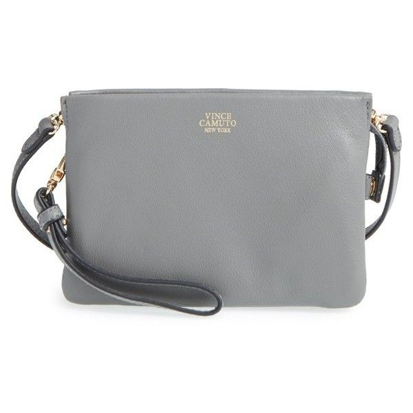 Vince Camuto 'Cami' Leather Crossbody Bag ($128) ❤ liked on ...