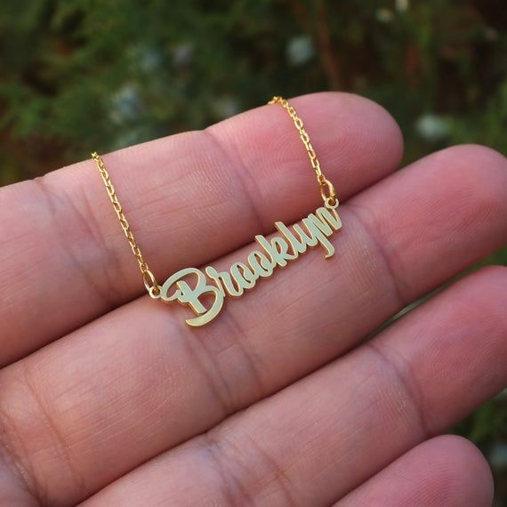 Custom Name Necklace Gift for Mom Dainty Name Necklace Personalized Name Necklace Baby Name Necklace Gift for Her Name Jewelry