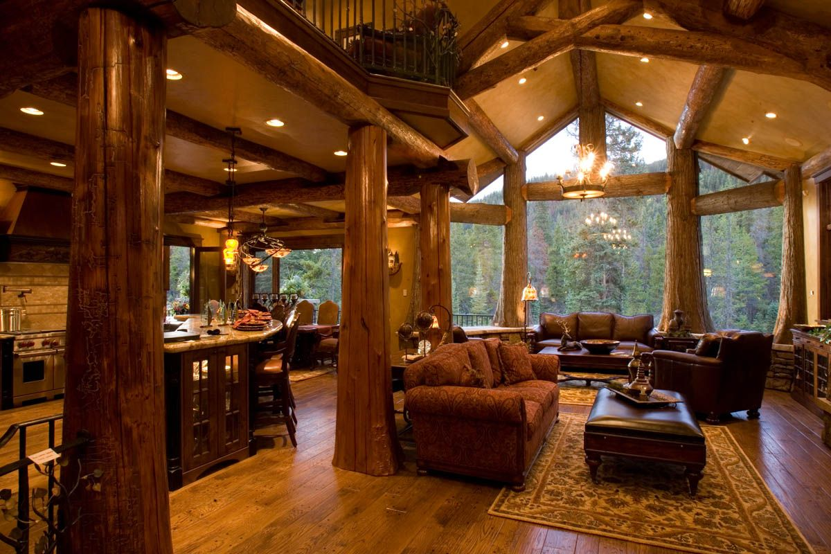 Home interior view gallery  edgewood log homes view view view  dream home