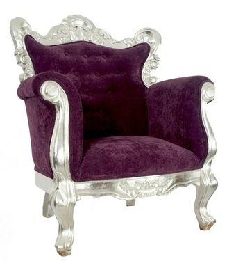 Glamuroso sill n barroco fabricado en madera de pino - Muebles estilo barroco moderno ...