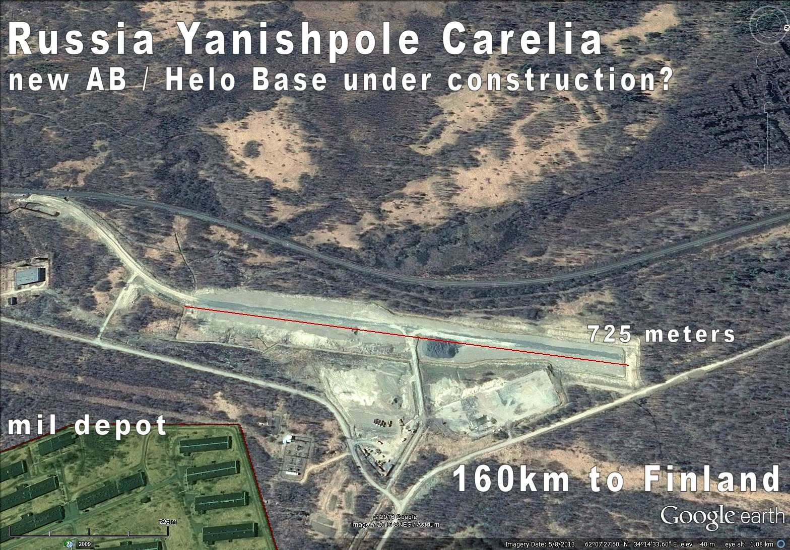 Russia Yanishpole Carelia Russia New militarization on