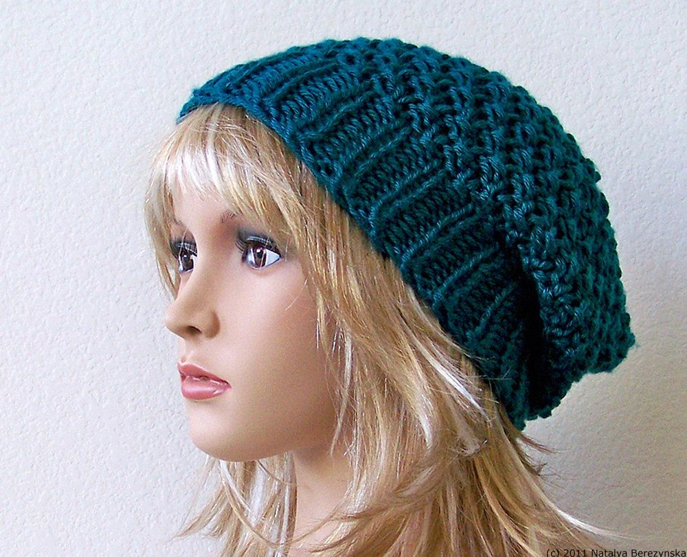 Slouchy beanie in teal blue slouch beanie knit slouch hat slouchy beanie in teal blue slouch beanie knit slouch hat slouchy knit hat bankloansurffo Image collections