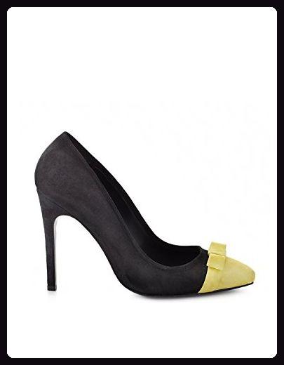 Schwarz Shoevita Heel Handgefertigte Wildleder Damen Gelb High amp; OPn7B8nq