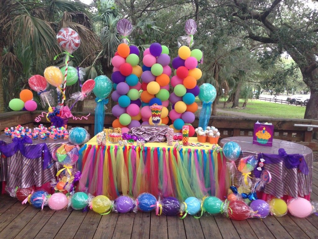 Candy Decorations Candy Land Decoration Setup Birthday Party In Miami Fiestas