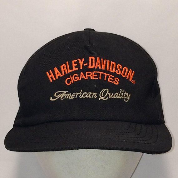 a980daaaefc Vintage Harley Davidson Cigarettes Snapback Hat Tobacco Smoking Dad Rare  Hats For Men American Quality Black Snap Back Ball Cap T114 MA8176