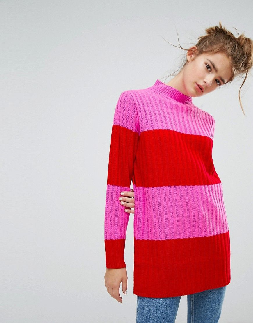 Red and Pink Stripe Sweater | Want It. Need It. | Pinterest | Pink ...