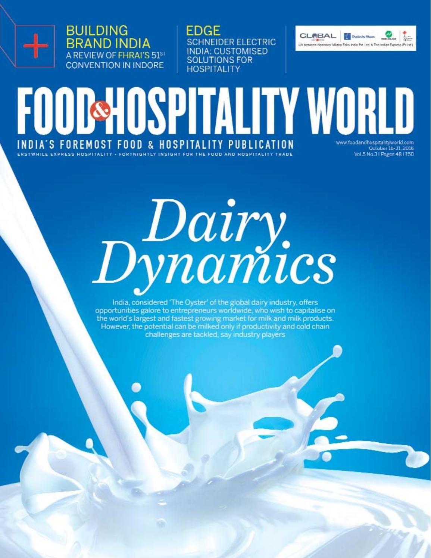 Food and Hopsitality World (Vol.5, No.3) October 16-31, 2016