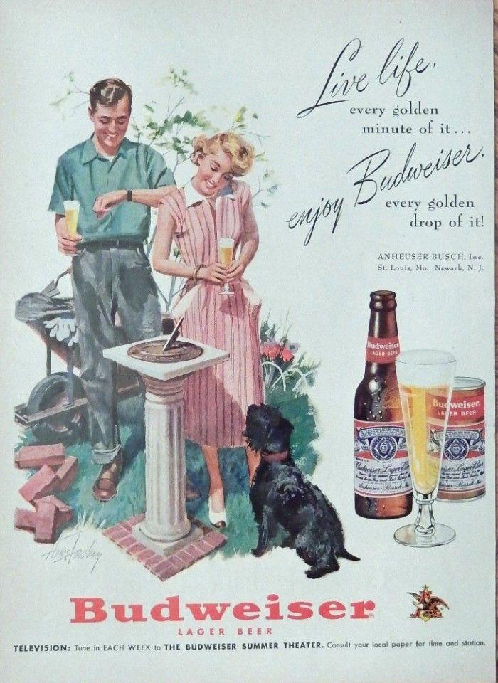 Vtg 1940/'s 1970/'s BEER ADS Advertising Print Ad MILLER HEINEKEN BUD You choose