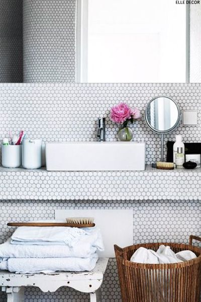 Honeycomb Tiles Honeycombs Bath And Interiors - Honeycomb tile bathroom