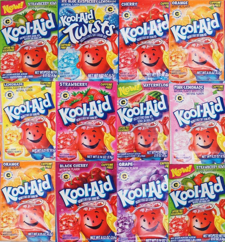 Kool Aid Drink Mix 25 Packets Select Your Flavors Kool Aid Flavored Lemonade Mixed Drinks