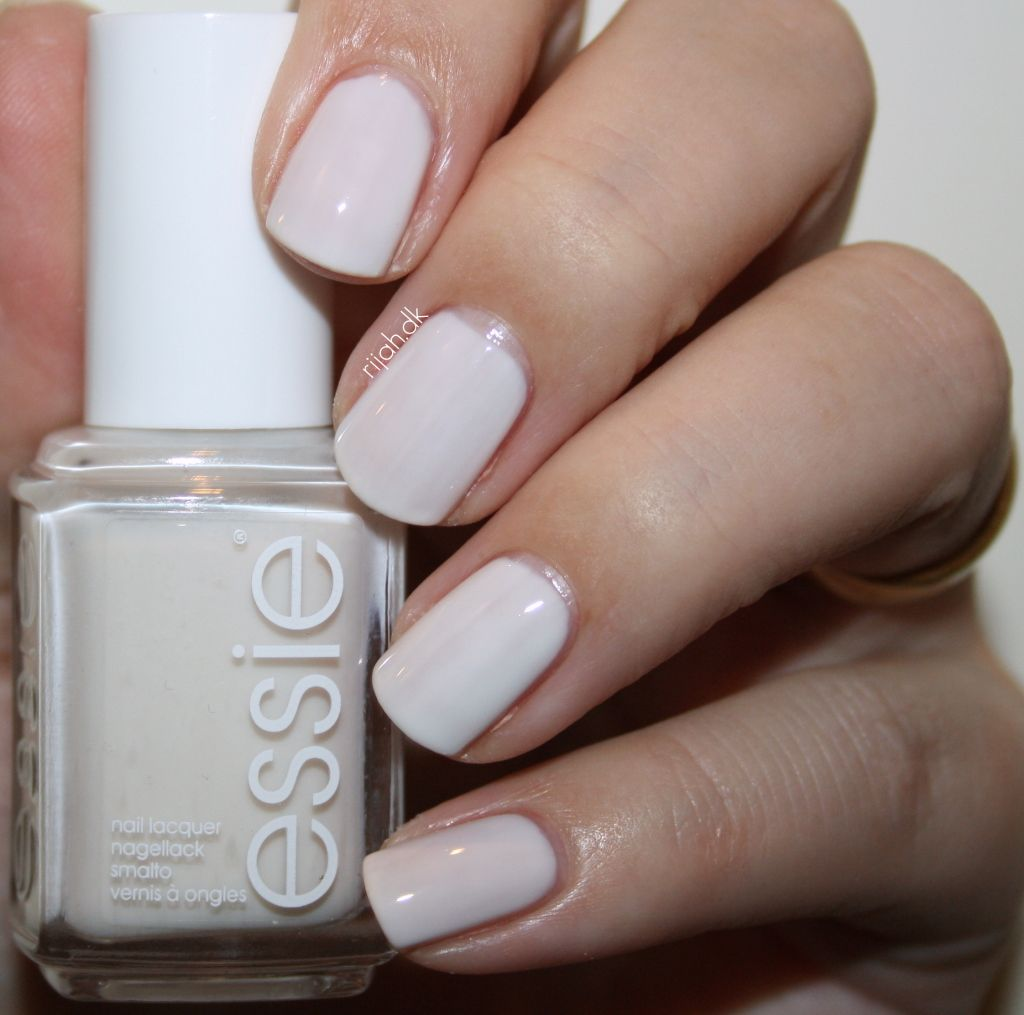 White Nail Polish In Winter: Essie Tuck It In My Tux. My Go To Polish. Wear It
