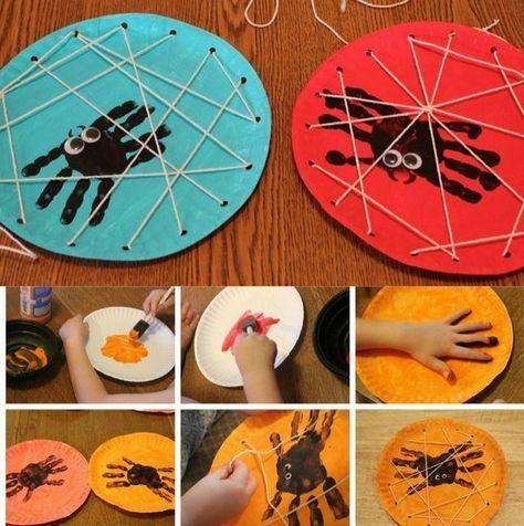 Manualidades para Halloween con pintura de dedos