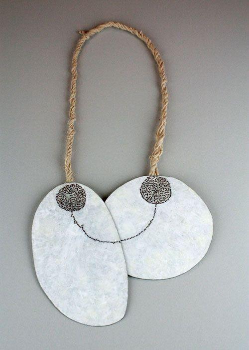 Satomi Kawai Necklace: Symbiosis II, 2011 Steel, pigment, sterling silver…