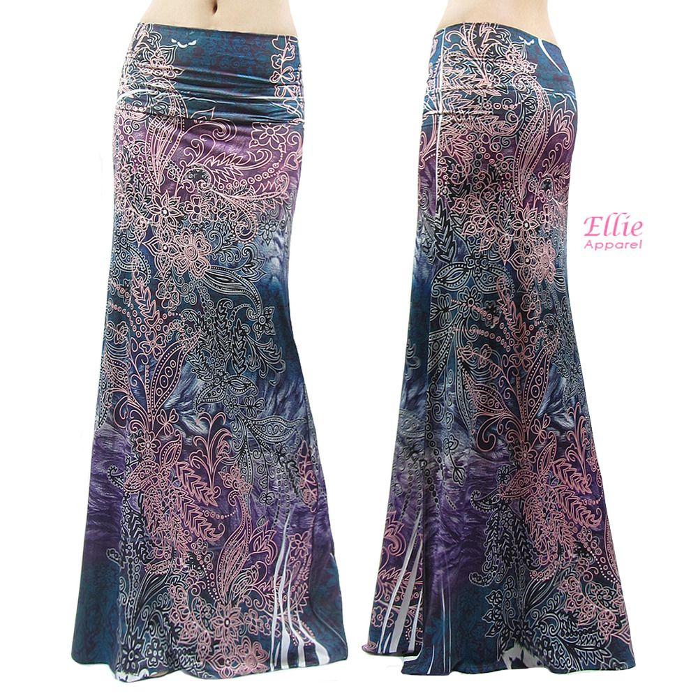 S//M//L//XL//1XL//2XL//3XL Women/'s LONG SKIRT Floral Colorful high waist Maxi